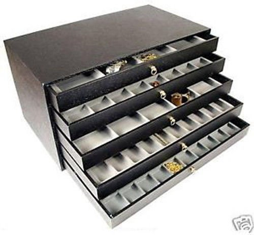 Generic DISPLAY C BOX TRAYS Y CASE GEMS BEADS AYS 5 DRAWER S BEADS BOX JEWELRY DISPLAY JEWELRY D CASE GEMSTONES ER JEW