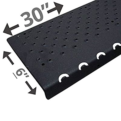 """Handi-Treads Non Slip Aluminum Stair Nosing, Powder Coated Black, 6"""" x 30"""" with Color Matching Wood Screws, Each"""