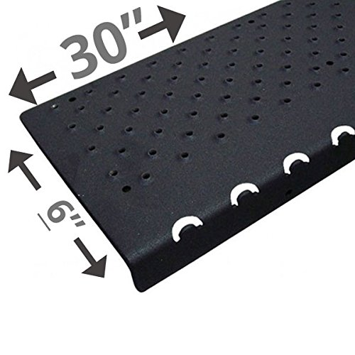 Handi-Treads Non Slip Aluminum Stair Nosing, Powder Coated Black, 6