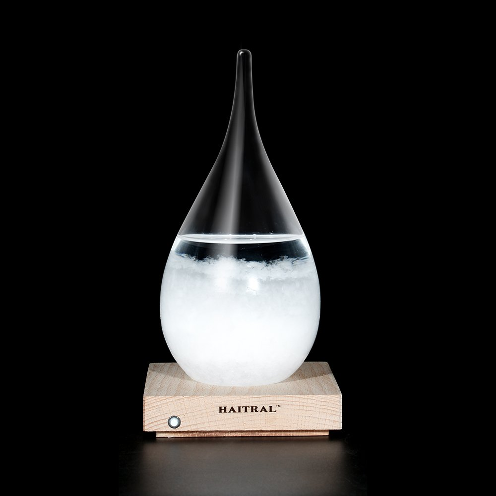 Storm Glass Desktop Drops Craft Bottle Barometer Lamp Home Desk decoration, Creative Gift(Medium)