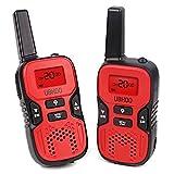 Walkie Talkies, 22 Channel FRS/GMRS Kids Walkie Talkies 2 Way Radio 3.7 Miles UHF Handheld Walkie Talkies for Kids (1 Pair) Red