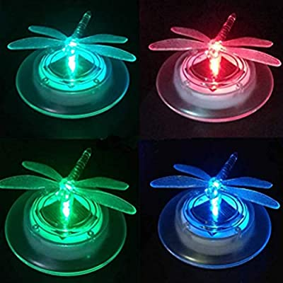 Uonlytech Solar Floating Light, Waterproof Dragonfly Solar Pool Light, Solar Pond Light for Garden Swimming Pool, 2Pcs