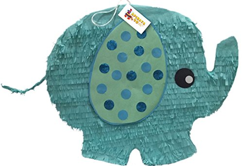 Elephant Pinata (Teal Color Gender Reveal Baby Elephant Pinata)