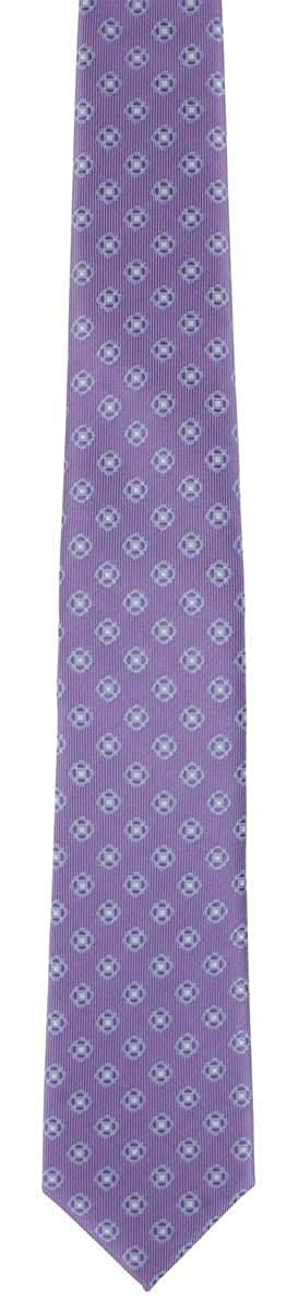 Michelsons of London Mens Outline Neat Tie and Pocket Square Set Lilac