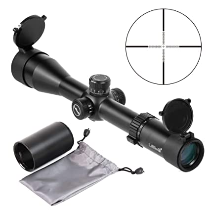 Natwag Lebo Rifle Scope- 4-16x44 30mm First Focal Plane Tactical Rifle  Scope for Hunting and Shooting(Black)