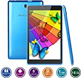 KOCASO MX810 8 INCH Android 6.0 A7 Quad-Core HD Tablet PC- 16GB Memory W/Expandable Memory, 1280x800, Dual Camera, Wireless/3G Dongle/Wi-Fi/Micro SD Card Slot/Micro USB/FREE ACCESSORIES- Blue