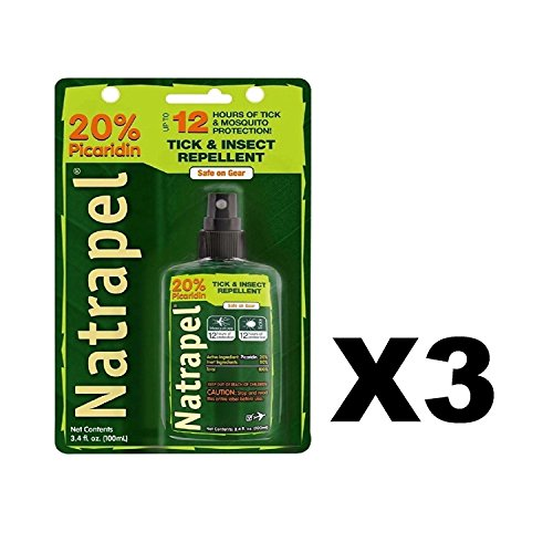 Natrapel 12-Hour Insect Repellent 3.4 Ounce Pump Carded (100ml) (3 Pack)