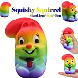 Bigby Newest Super Slow Rising Squishies Toy, | 12cm Squirrel | ,Lovely Jumbo Kawaii Galaxy Strawberry Scented Squishy Charm Slow Rising Stress Reliever Toy Exquisite Kid Soft Toy (Sale!) (a)