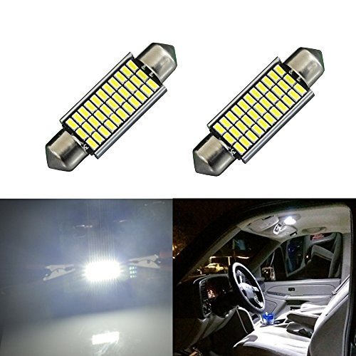 JDM ASTAR Extremely Bright EX Chipsets Error Free 1.72″ 42mm 211-2 212-2 578 LED Bulbs,Xenon White