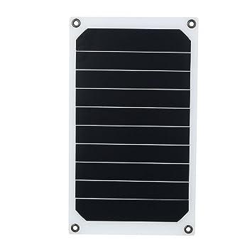 hunpta Cargador de panel solar para teléfono móvil (5 V, 5 W ...