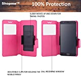 Shopme Premium PU Leather 100% Protection Flip cover (PINK COLOR) for Micromax Canvas Pace 4G Q16 (Slider for Taking Snaps, Access to All Ports, PU Leather, 100% Protection from Spillages,Dirt )