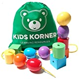 Jumbo Lacing Beads For Kids - Montessori Toddler Games and Educational Toys For 2 Year Olds - Rainbow Matching Game and Stringing Bead Set with Toy Storage and Learning Activities eBook
