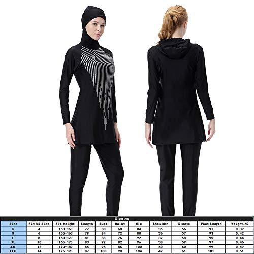 Xxxl Nero Alla Musulmane Cimenn Bagno Nylon In Donna Bleu Moda Foncé Costume Da PTfqwFg