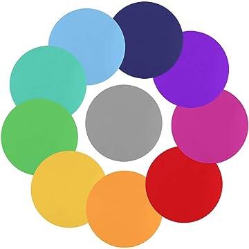 Amazon com : Tatuo 10 Pieces Colorful Dry Erase Circles