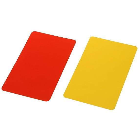 Tarjetas de arbitraje - TOOGOO(R)Caja para tarjetas rojas y ...