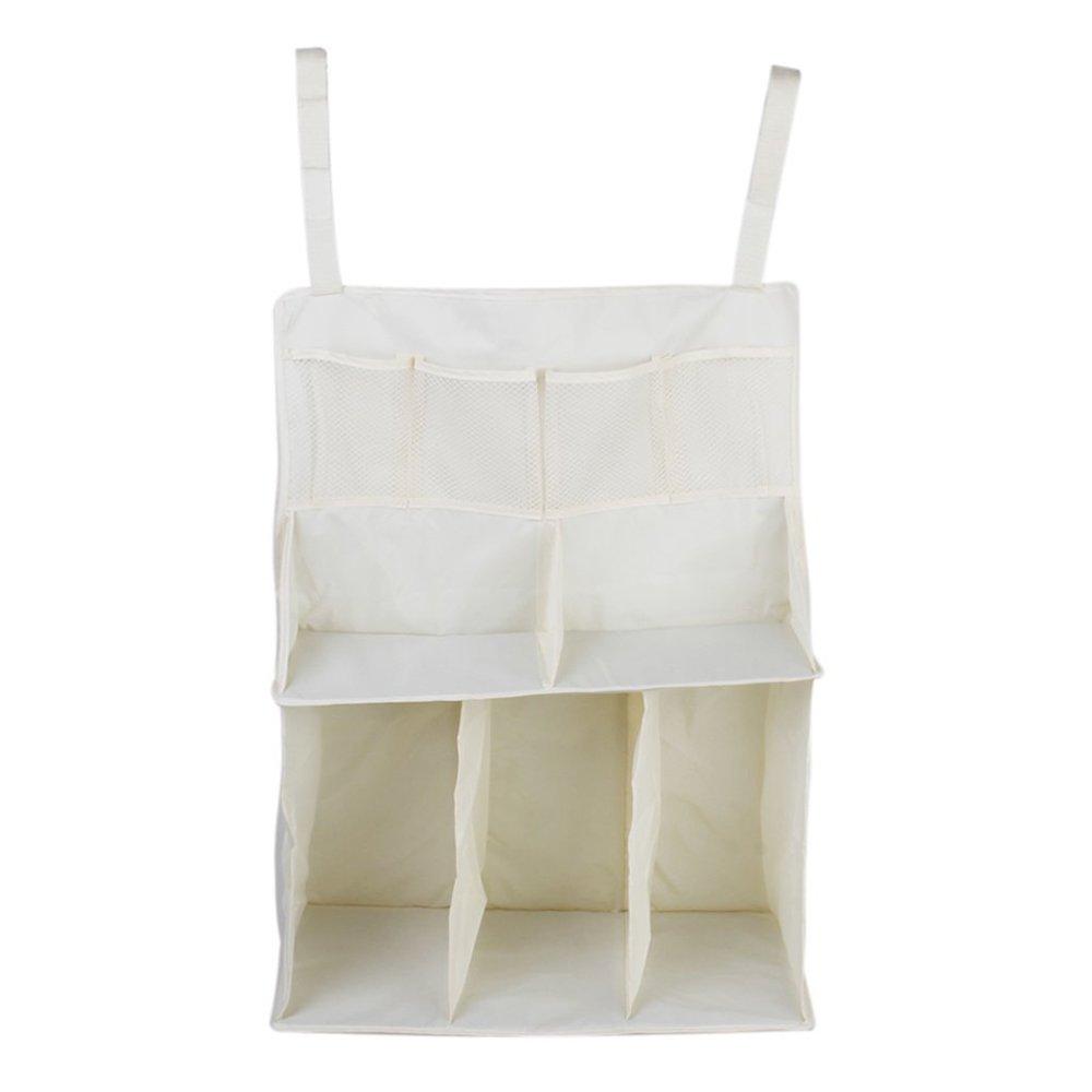 Vine Vivero Cuna Organizador ordenado para la cama de la choza Cama de bebé bolso de la bolsa de almacenamient Multifunción colgando pañales ...