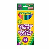 Crayola 24 Coloured Pencils, Adult Colouring Pencil Crayons, Bullet Journaling, School and Craft Supplies, Drawing Gift for Boys and Girls, Kids, Teens Ages 5, 6,7, 8 and Up, Holiday Gifting, Stocking , Arts and Crafts,  Gifting