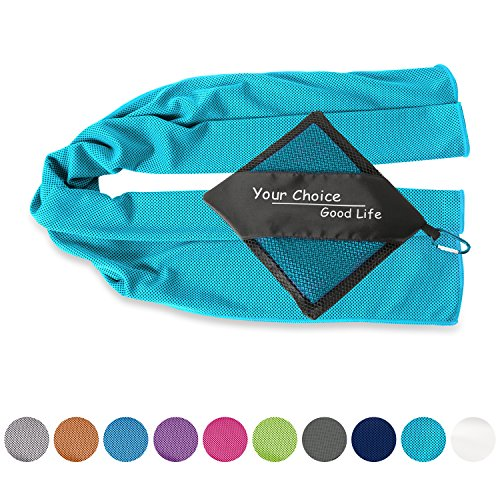 Cool Towels for Mowing Lawn Fishing Working Out Cold Relief on Neck Face Head Body Shoulder Turquoise 16x40 Inch
