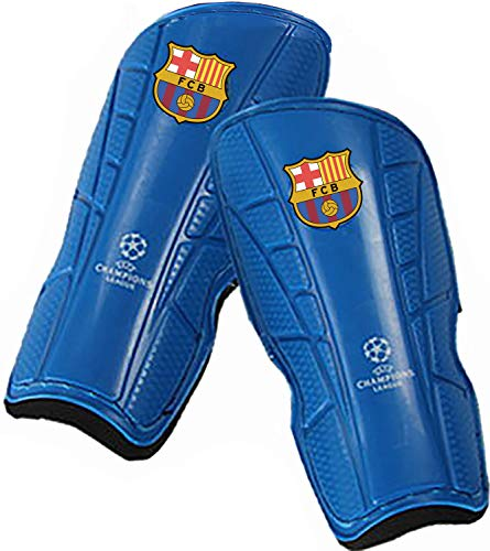 Sportfy Soccer Team Football Club Logo Soccer Shin Protective Pads Board Comfortable Lightweight and Breathable(Pair) (FC Barcelona)