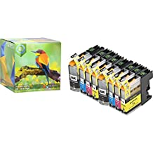 Ink Hero 8 Pack High Yield Cartridges for Brother LC-103 DCP J152W MFC J245 J285DW J4310DW J4410DW J450DW J4510DW J4610DW J470DW J4710DW J475DW J650DW J6520DW J6720DW J6920DW J6920DW J870DW J875DW