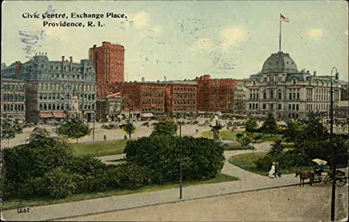 Civic Centre, Exchange Place Providence, Rhode Island Original Vintage - Providence Island Rhode Place