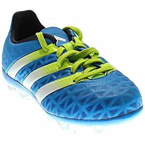 Adidas Soccer Cleats Size 5.5 - Ace 16.1 FG/AG Junior, Blue/White/Green