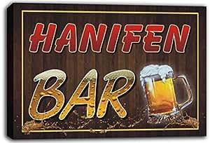 scw3-105032 HANIFEN nombre de forma de Pub cerveza jarras de impresión de Lienzo con texto en inglés