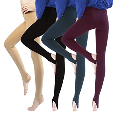 12f79525841755 Thick Thermal Leggings for Women Fleece Lined Leggings Winter Warm Opaque  Control Top Tights 4 Pack