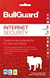 Software : BullGuard Internet Security 2018 Download Key Card, 1 Year (3-Users)