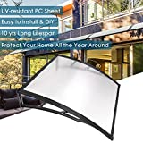 Yescom 39'x 39' Door Window Outdoor Awning Patio Cover UV Rain Snow Protection Polycarbonate Hollow Sheet