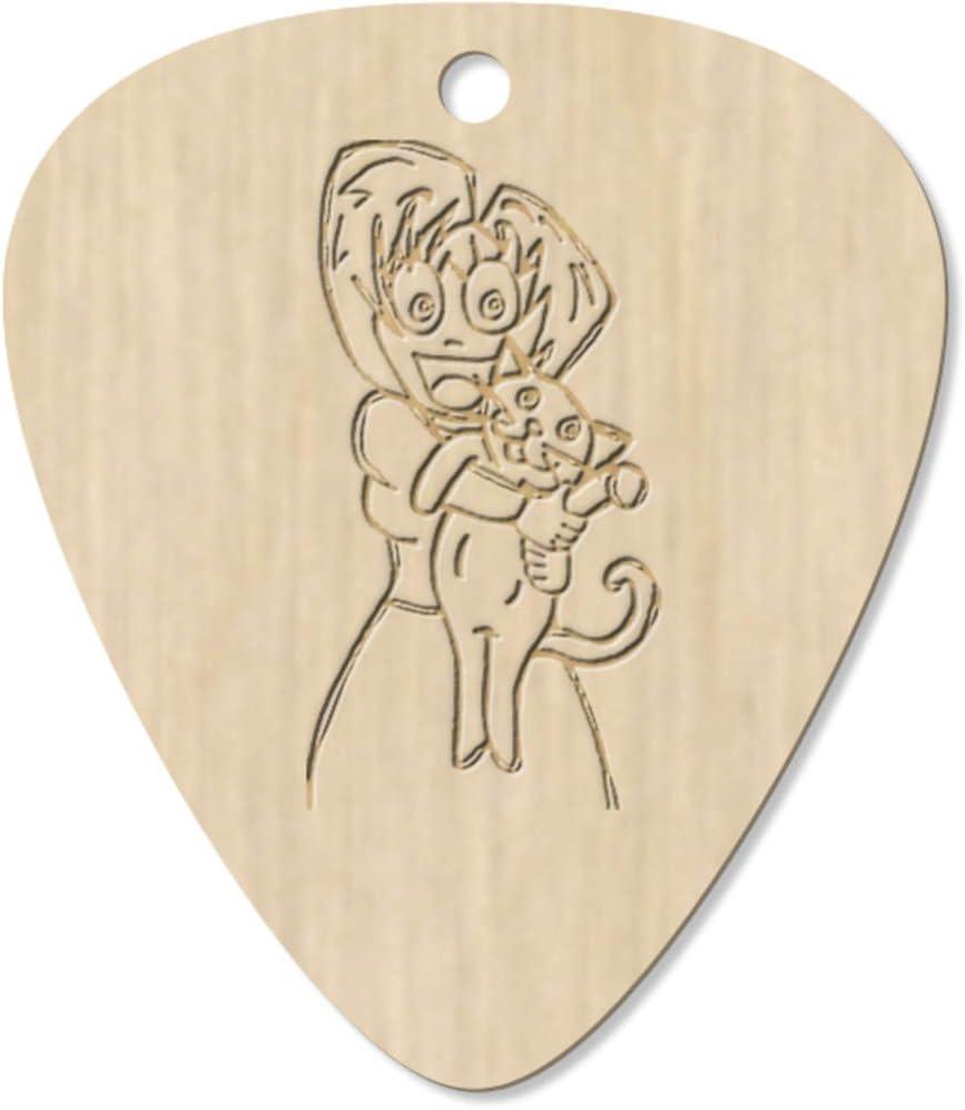 Azeeda 7 x Señora Loca del Gato Guitarra Púa (GP00003606 ...