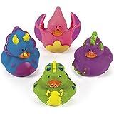 Fun Express Dinosaur Rubber Duckies Novelty (12 Pack)