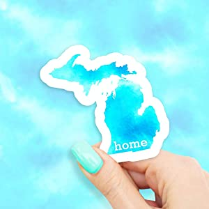 Michigan Home State Vinyl Sticker - for Laptops, Water Bottles and Windows