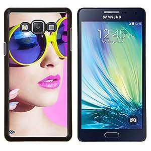 For Samsung Galaxy A7 A7000 Case , stil devushka makiyazh ochki- Diseño Patrón Teléfono Caso Cubierta Case Bumper Duro Protección Case Cover Funda