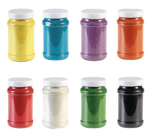 Fun Express Rainbow Craft Sand Assortment (8 Piece), 22 oz -