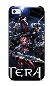 ipod touch4 Hard Back With Bumper Silicone Gel Tpu Case Cover Tera Online Anime Fantasy