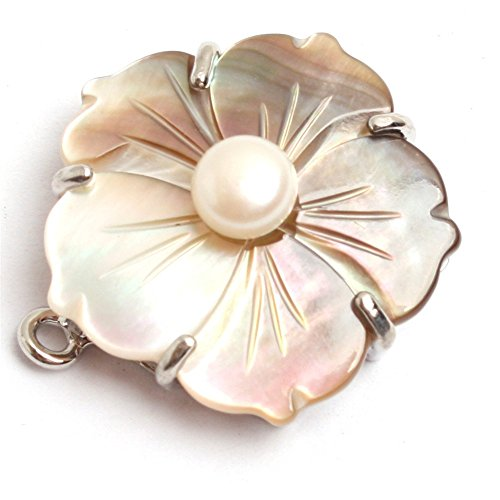 Pearl Flower Clasp - 2