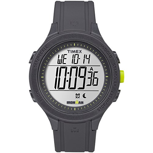 - Timex TW5M14500 Ironman Essential Urban Digital 43mm Watch (Gray/Lime)