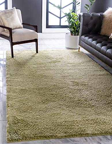 Unique Loom Solo Collection Solid Plush Kids Light Green Area Rug (5' 0 x 7' 7) ()