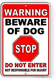 Warning Wall Home Decor-Caution Deaf Dog.8x12 Inch Metal Tin Sign Vintage Signs Aluminum Plates Printed Warnin