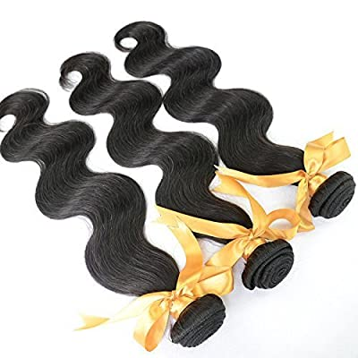 "Mixed length 20"" 22"" 24"" Loose Wave Brazilian Virgin Remy Human Hair Weave Weft 3 Bundles 300 Grams Unprocessed Natural Color Extensions 100% Brazilian Human Hair Extensions"