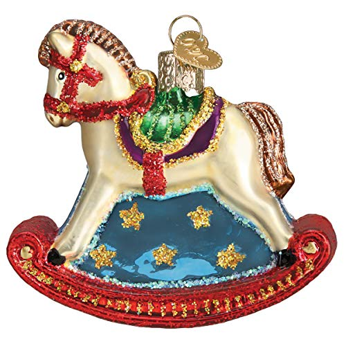 Old World Christmas Hanging Tree Ornament, Rocking Horse]()