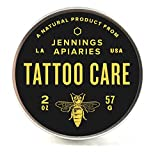 Premium Tattoo Care - All Natural Aftercare for Your New and Old Tattoos - Made with Organic Ingredients - Works on Psoriasis, Eczema, Cuts, Scrapes - No Petroleum, Parabens, Lanolin - Unscented