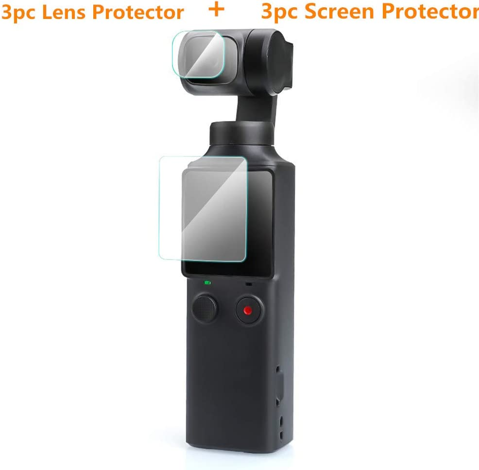 Neige 6pcs for FIMI Palm Action Camera Protector Film with Install Tool Scratch Resistance No Bubble Easy Installation 3pc Lens Protection Film, Anti-Fingerprints 3pc Screen Protection Film