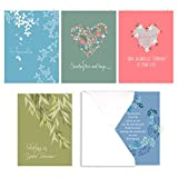 Heartfelt Sympathy Card Assortment Pack - Set of 25 cards - 5 of each design, versed inside with envelopes