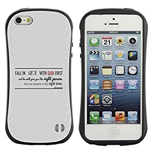 Bible Case Premium Plus TPU / Polycarbonate Cover Scratchproof Apple iPhone 5 / 5S - FALL IN LOVE WITH GOD -