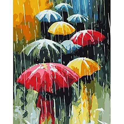 WACYDSD Paraguas Bricolaje Pintura Digital por Números ...