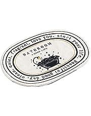 Dywan Nordic Ovalna podłoga Mata Mata antypoślizgowa Stopa Mata Łazienka Drzwi Mata Cartoon Carpet Absorbent Dywan style10-24 * 35 in