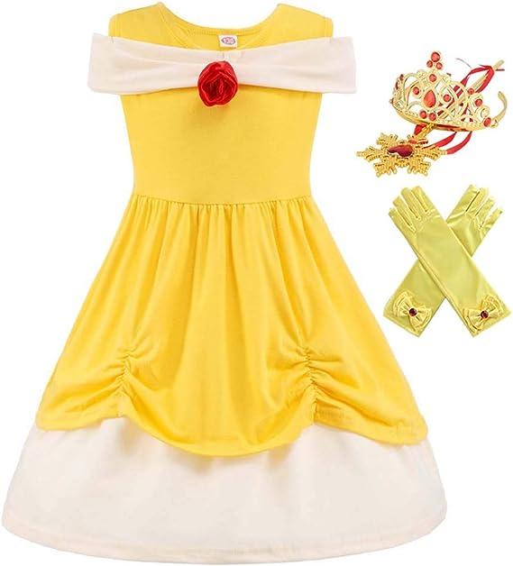 Disfraz de Princesa Bella Elena de jazmín de Sirena para niñas ...