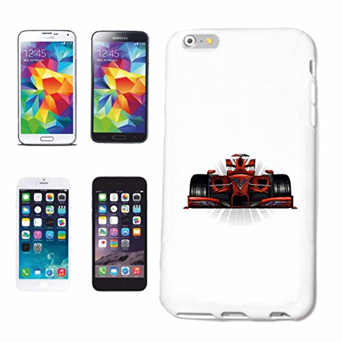 "cas de téléphone iPhone 6S ""FORMULA 1 RACE CAR FLAG HOT ROD CAR US Mucle CAR V8 ROUTE 66 USA AMÉRIQUE"" Hard Case Cover Téléphone Covers Smart Cover pour Apple iPhone en blanc"